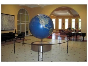 The globe in Bryant Hall